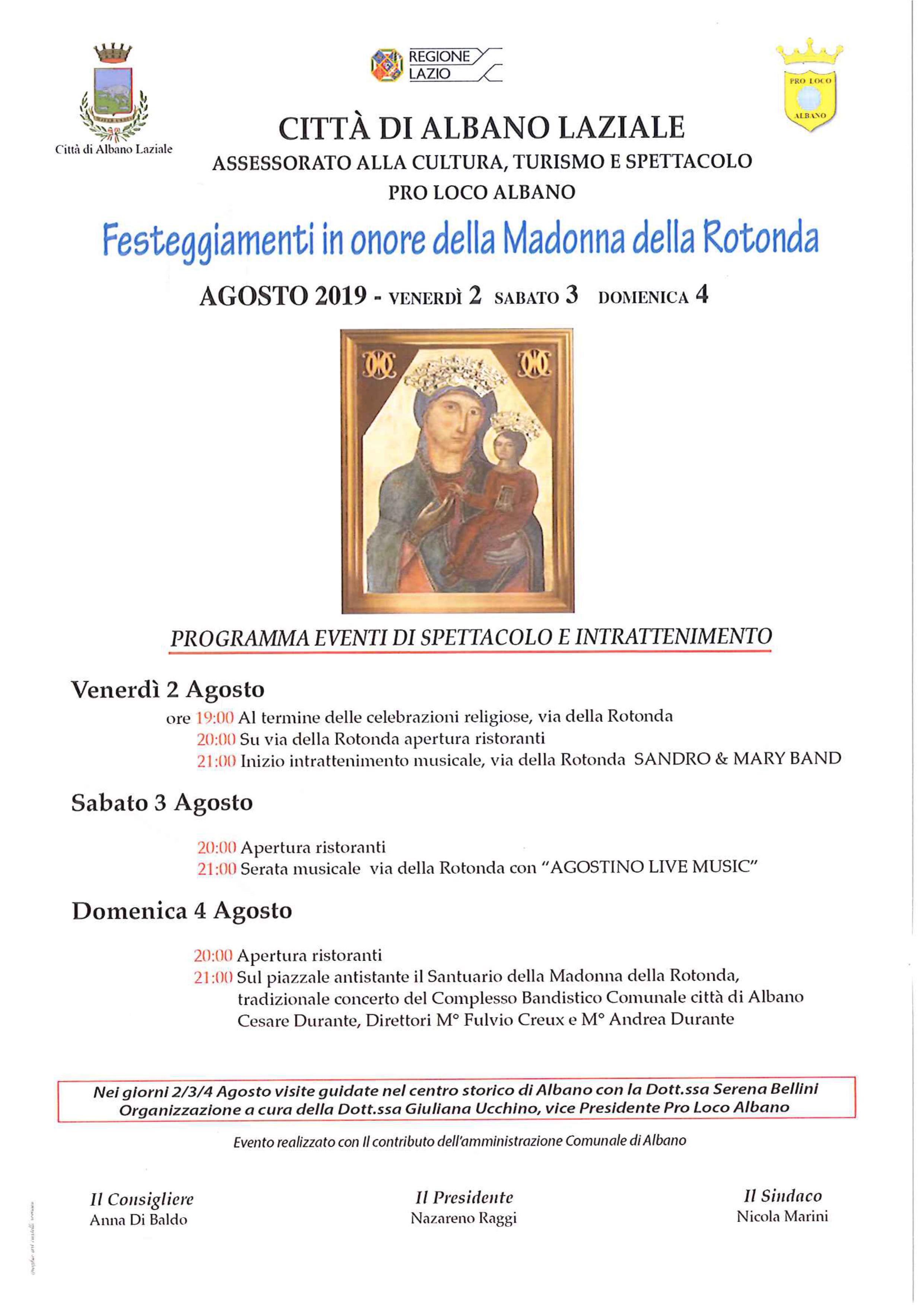 Manifesto Festeggiamenti Madonna della Rotonda