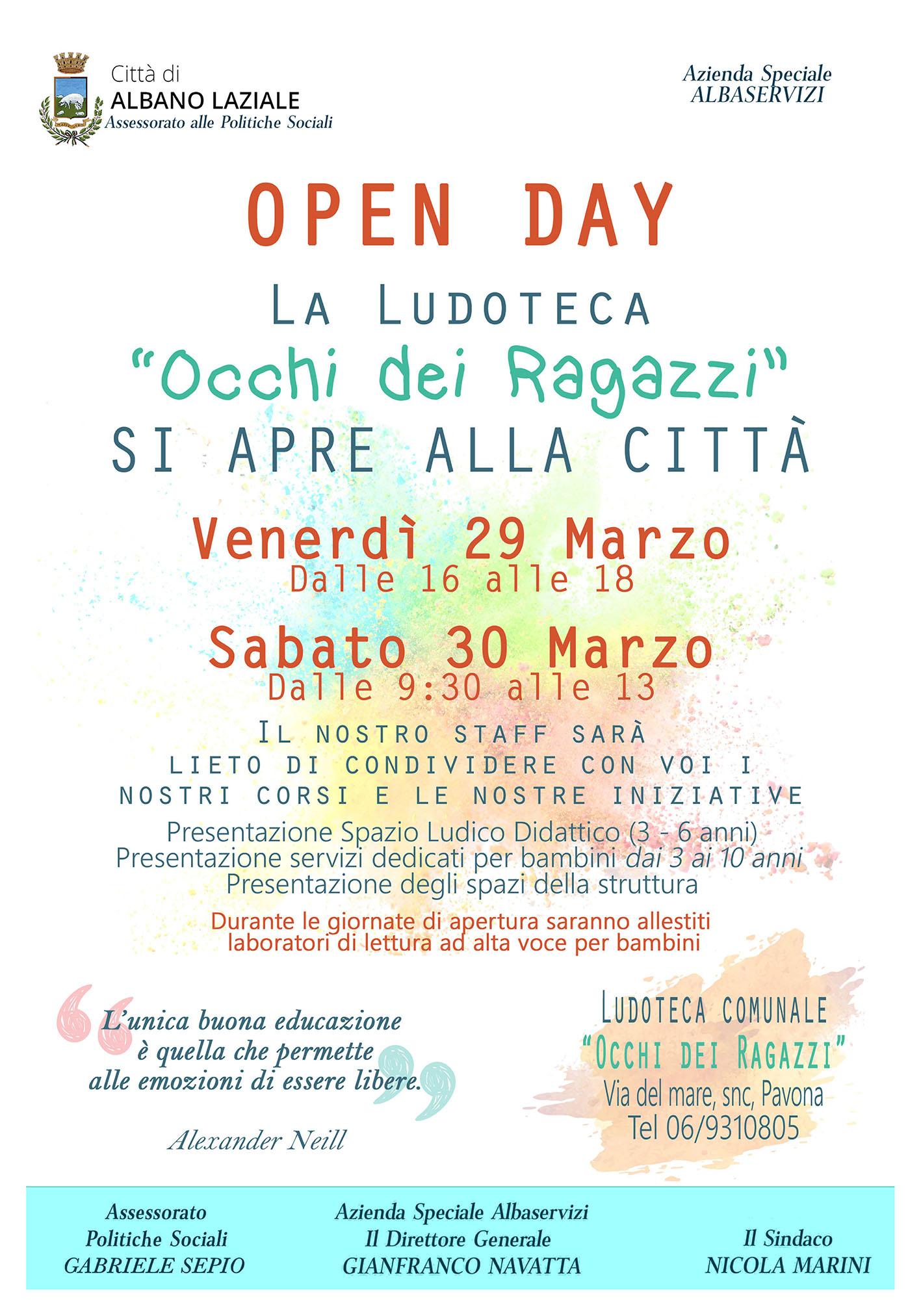file immagine contenente Open Day Ludoteca: Occhi dei Ragazzi