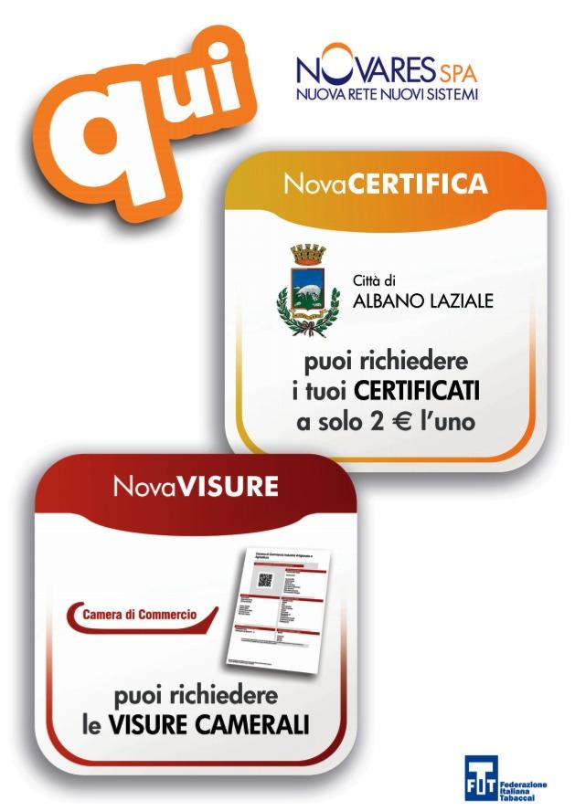 Locandina Certificati presso tabaccherie
