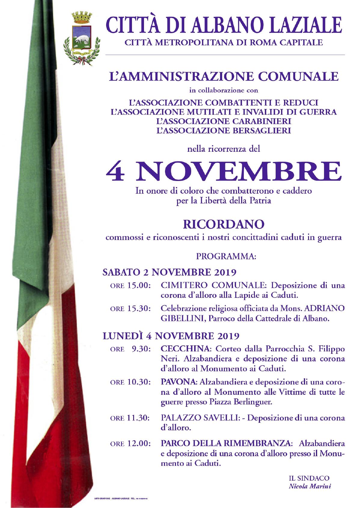 Manifesto 4 novembre