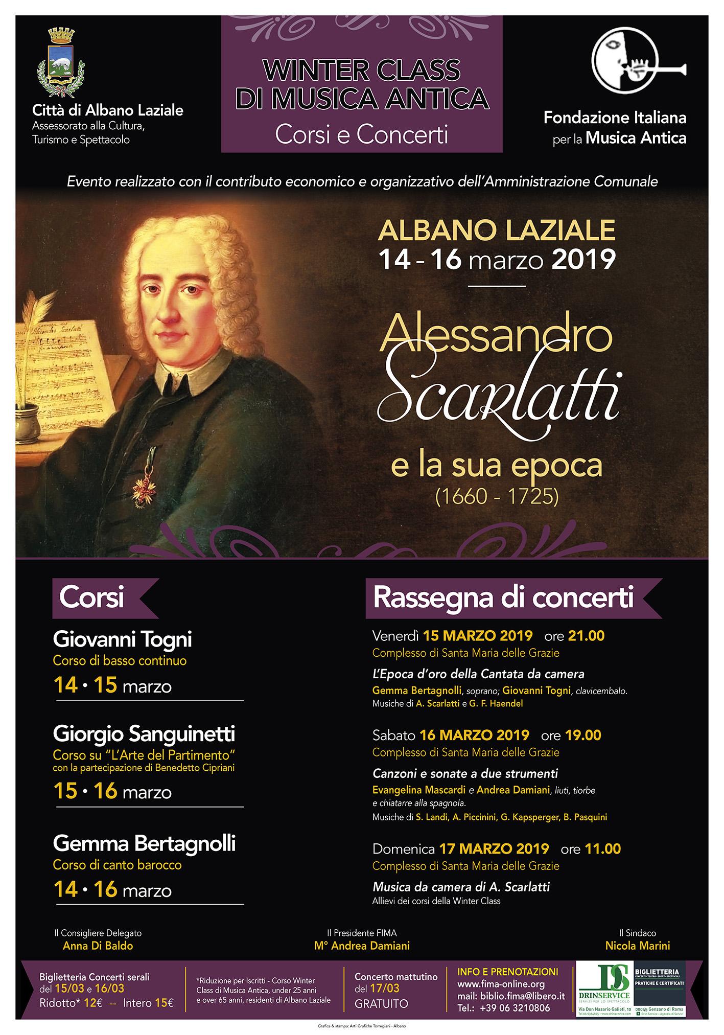 Locandina Winter Class di Musica Antica
