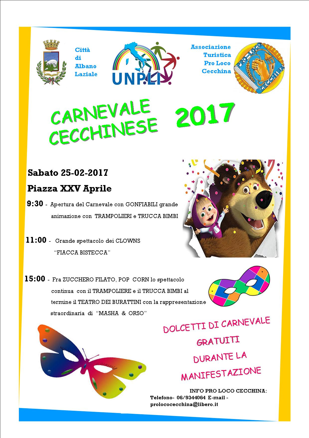 Locandina Carnevale Cecchinese 2017