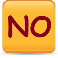 """Pulsante """"NO"""""""