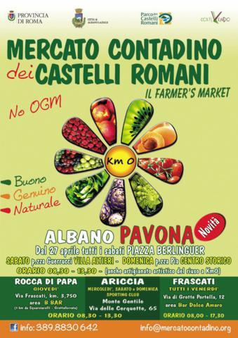 Locandina Mercato contadino dei Castelli Romani