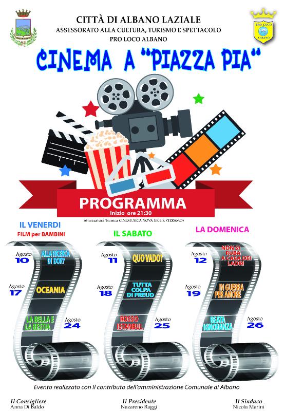 Locandina Cinema a P.zza Pia 2018