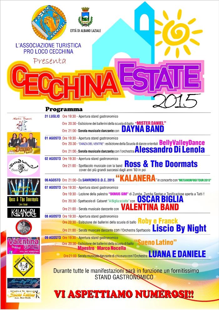 Cecchina estate 2015