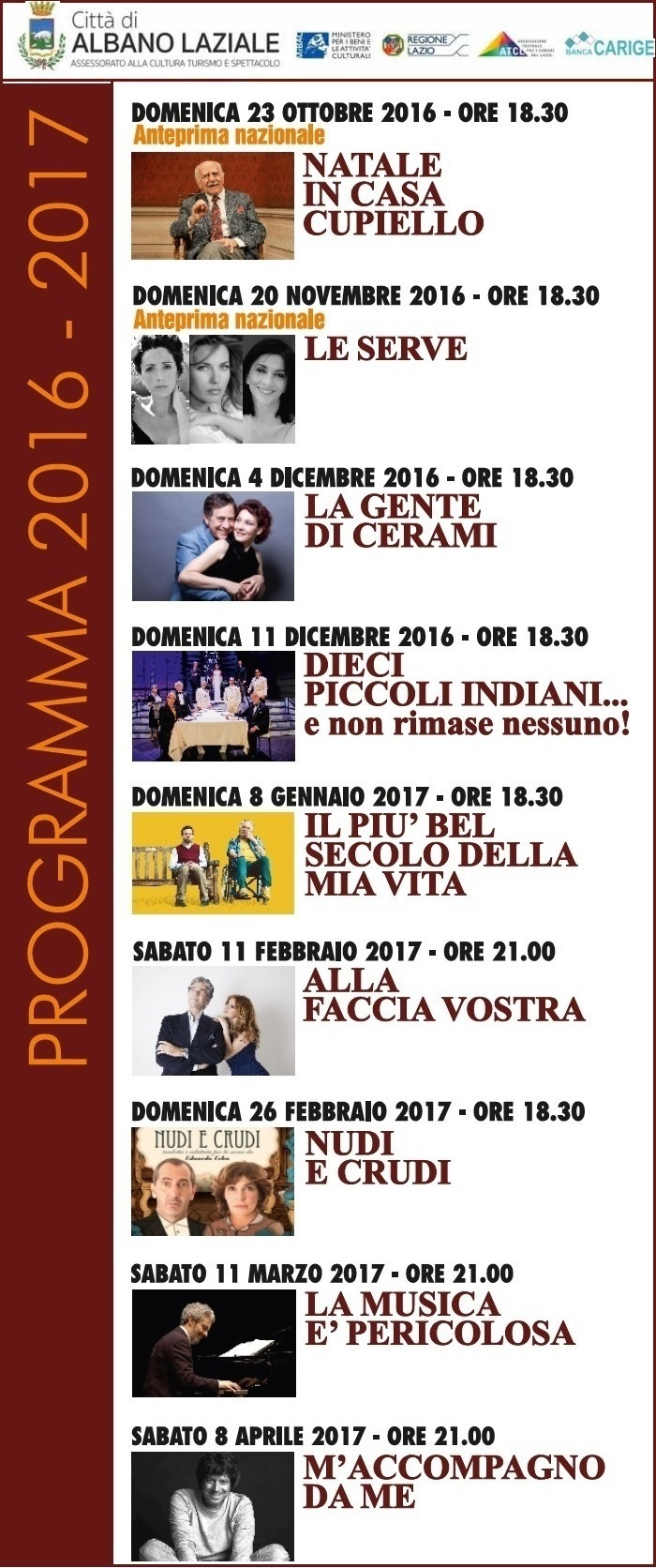 Programma teatrale