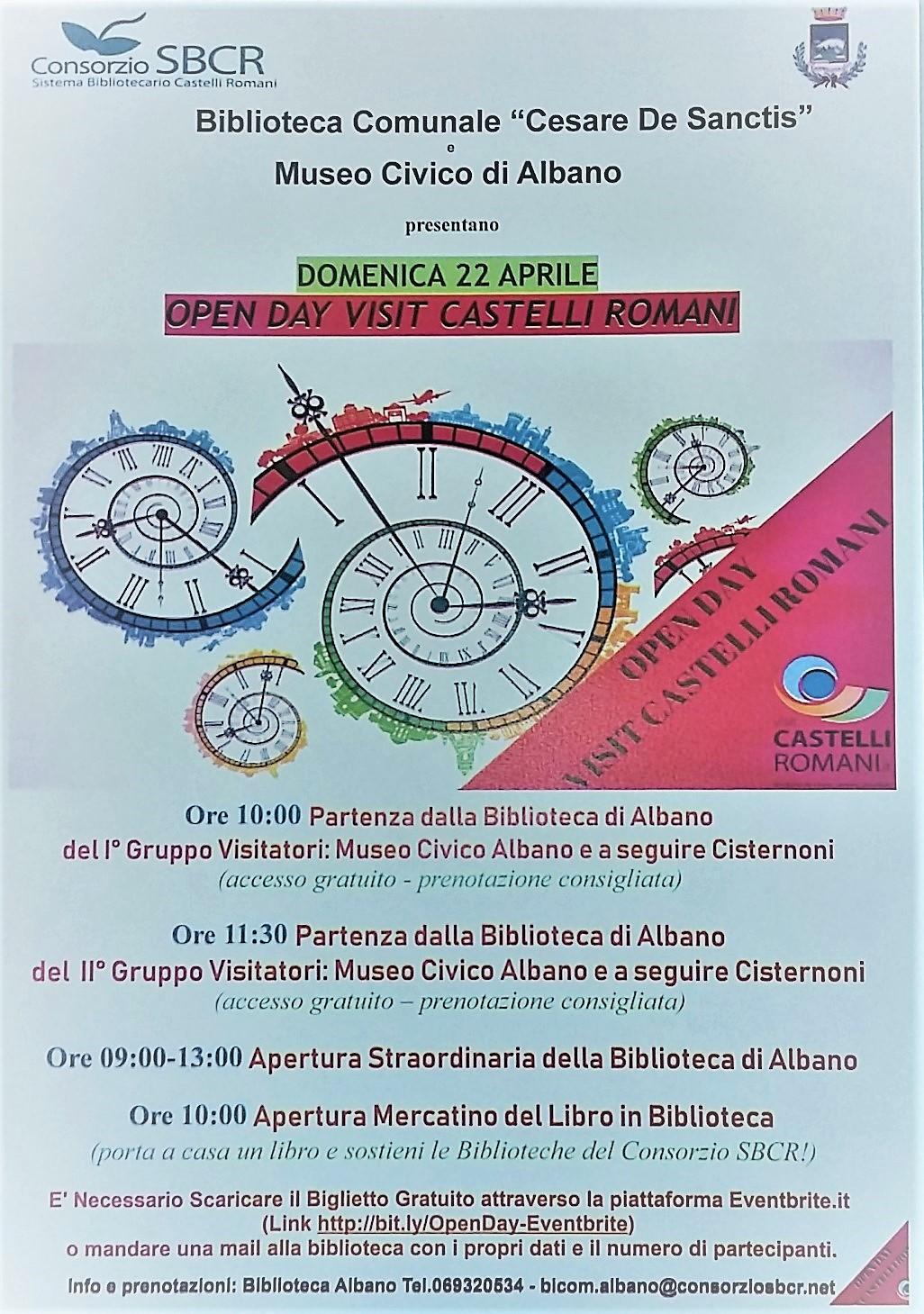 programma degli eventi organizzati ad Albano