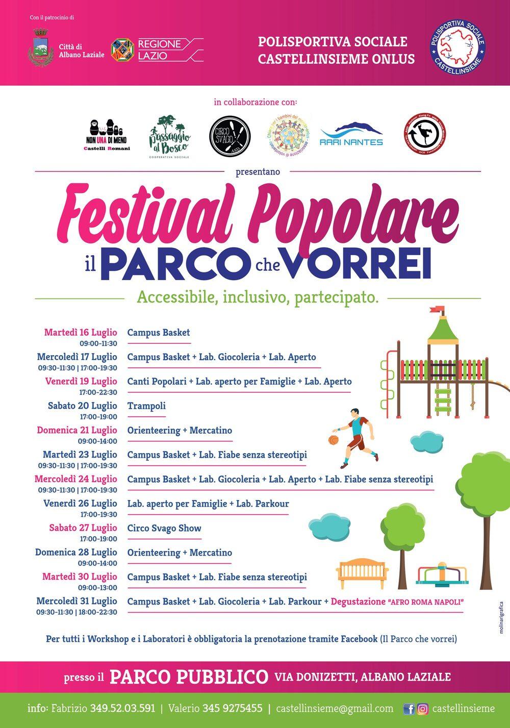 Locandina Festival popolare
