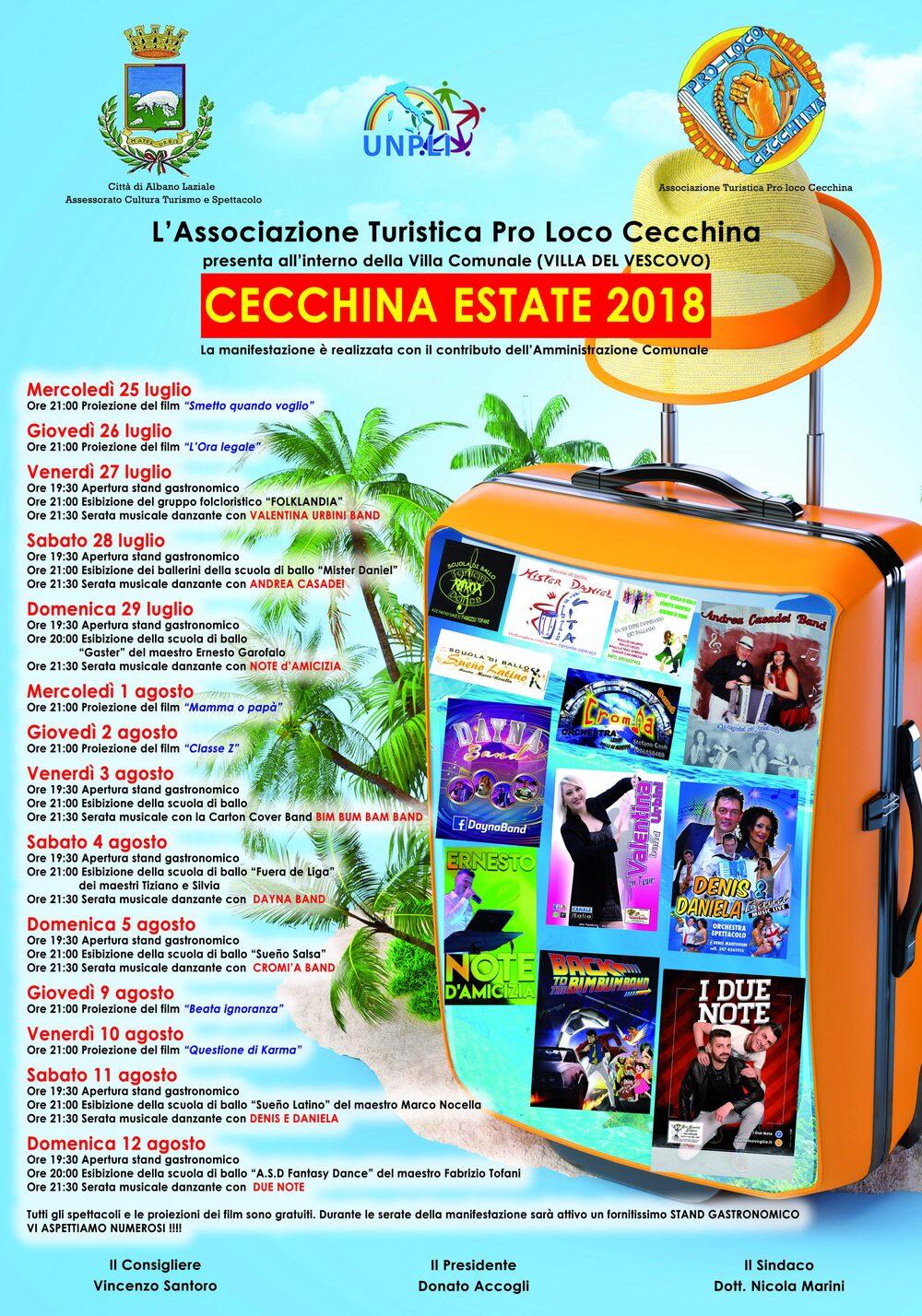 Locandina Cecchina Estate 2018
