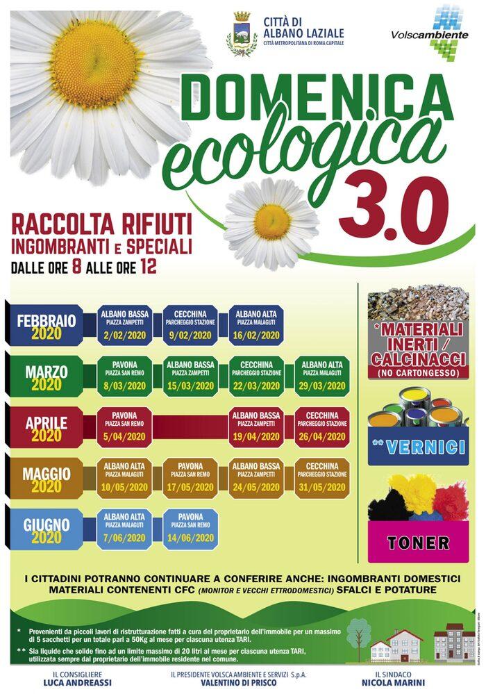 Locandina Domeniche ecologiche