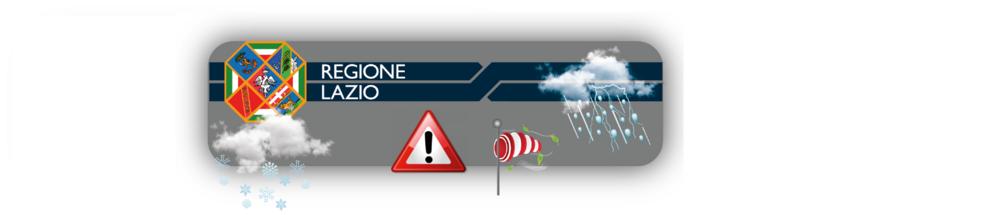 Banner allerta meteo regione Lazio
