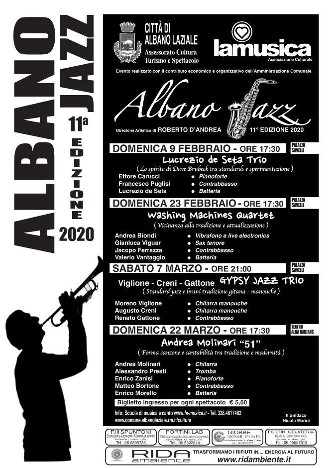 Locandina Albano Jazz 2020