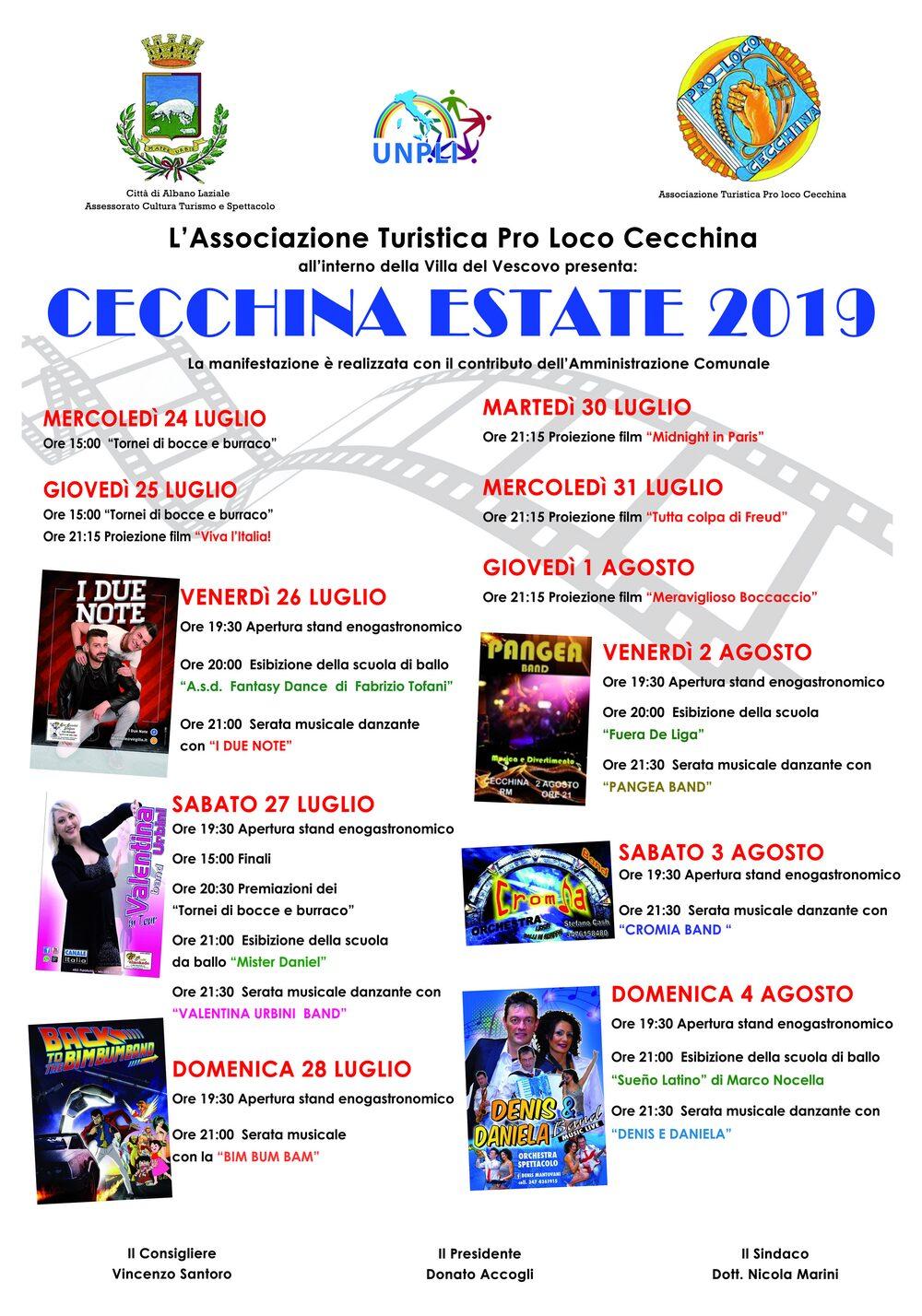 Locandina Cecchina Estate 2019