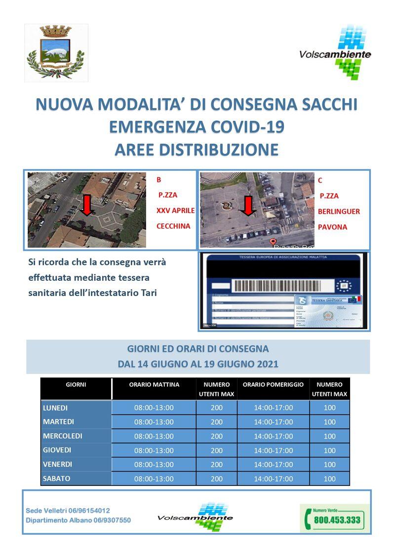 CECCHINA - B - XXV Aprile - dal 14 al 19 Giugno 2021 = PAVONA - C - Piazza Berlinguer - dal 14 al 19 Giugno 2021