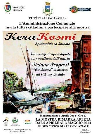 Inaugurazione Mostra Kerakosmi spiritualità e incanto artista Tiziana Properzi