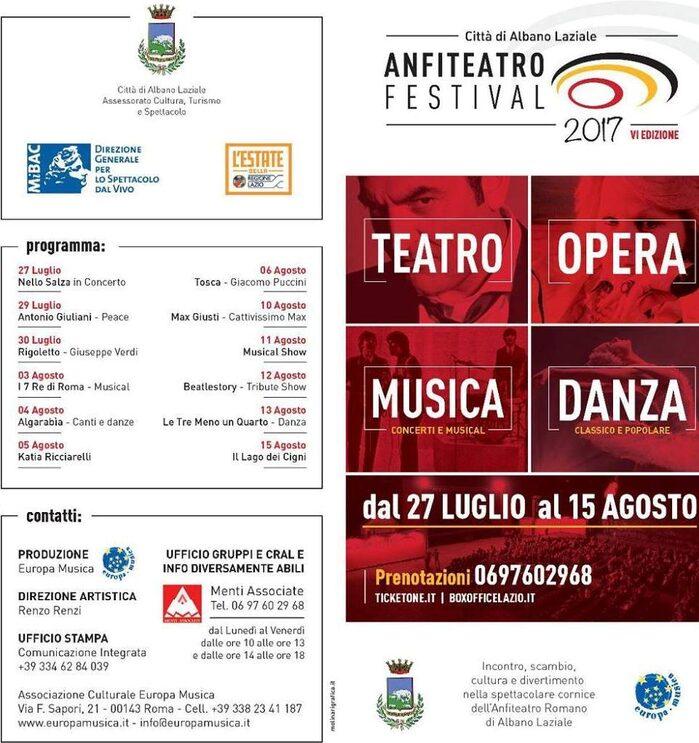 Locandina anfiteatro festival