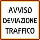 Avviso deviazione traffico